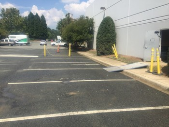 After Pressure Washing Parking Lot