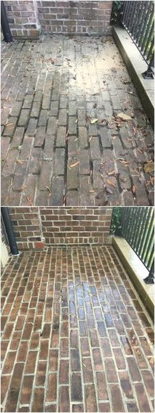 Before & After Brick Patio Cleaning in Charlotte, NC (1)