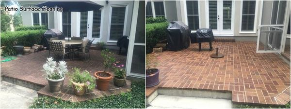 Brick Patio Surface Cleaning in Charlotte, NC (1)