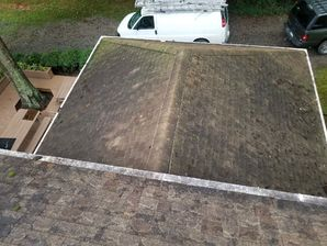 Before & After Roof Washing/Roof Cleaning in Mooresville, NC (1)