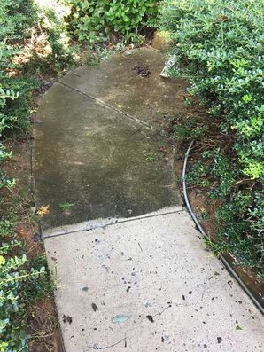 Before & After Shots: Huntersville NC Power Washing, Roof Cleaning, Chimney Washing, Sidewalk Surface Cleaning - LKN Pressure Washing (5)