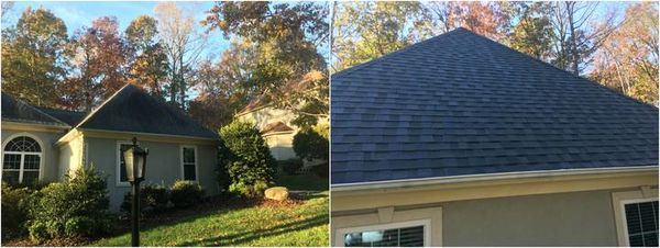 Roof Cleaning done in Huntersville, NC. (1)