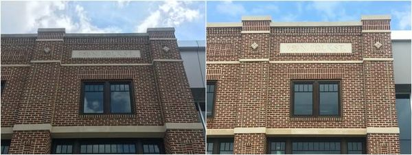 Before & After Commercial Building Pressure Washing in Charlotte, NC (1)