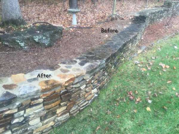 Retaining Wall Surface Cleaning in Stanley (1)