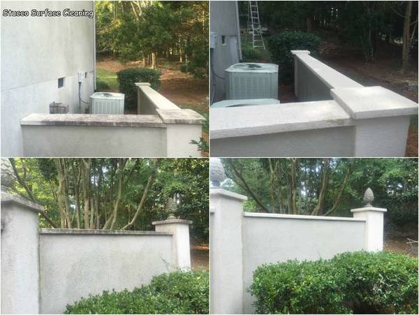 Stucco Wall Cleaning in South Charlotte (1)