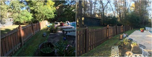 Before & After Pressure Washing in Huntersville, NC  Pool Deck Surface Cleaning, Power Washing.   House Washing, Fence Cleaning, and Staining LKN Power-Washing (1)